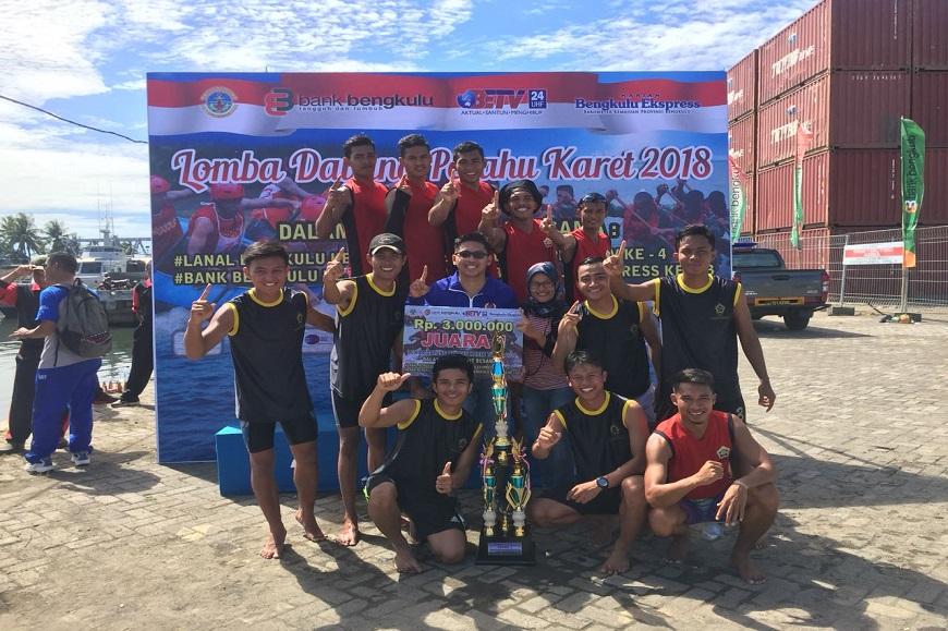 Mahasiswa Penjas FKIP UNIB Raih Juara 1 Lomba Dayung Perahu Karet Tahun 2018
