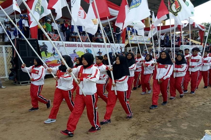Prodi Penjas FKIP Universitas Bengkulu ikut sukseskan Pembukaan Pekan Olahraga Provinsi (Porprov) Bengkulu 2018
