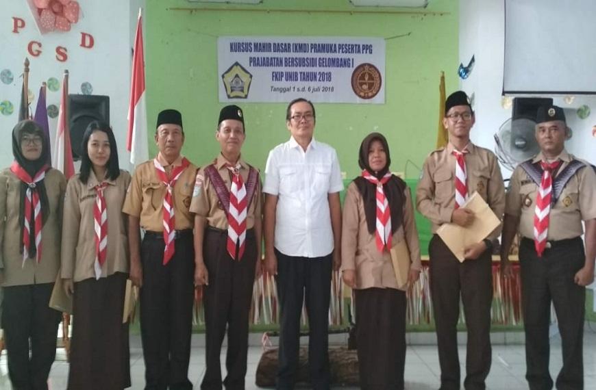 Kegiatan KMD ( Kursus Mahir Dasar ) Kepramukaan Mahasiswa PPG FKIP Universitas Bengkulu Tahun 2018