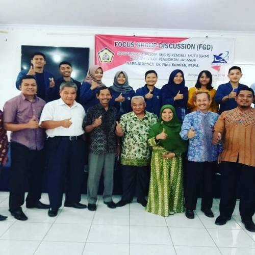Kegiatan FGD Sosialisasi Tupoksi GKM Prodi Penjas FKIP Universitas Bengkulu