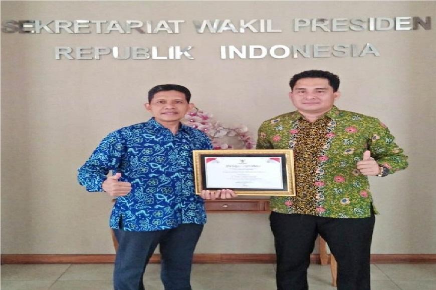 UNIB Kembali Terima Penghargaan dari Wapres untuk Keterbukaan Informasi Publik