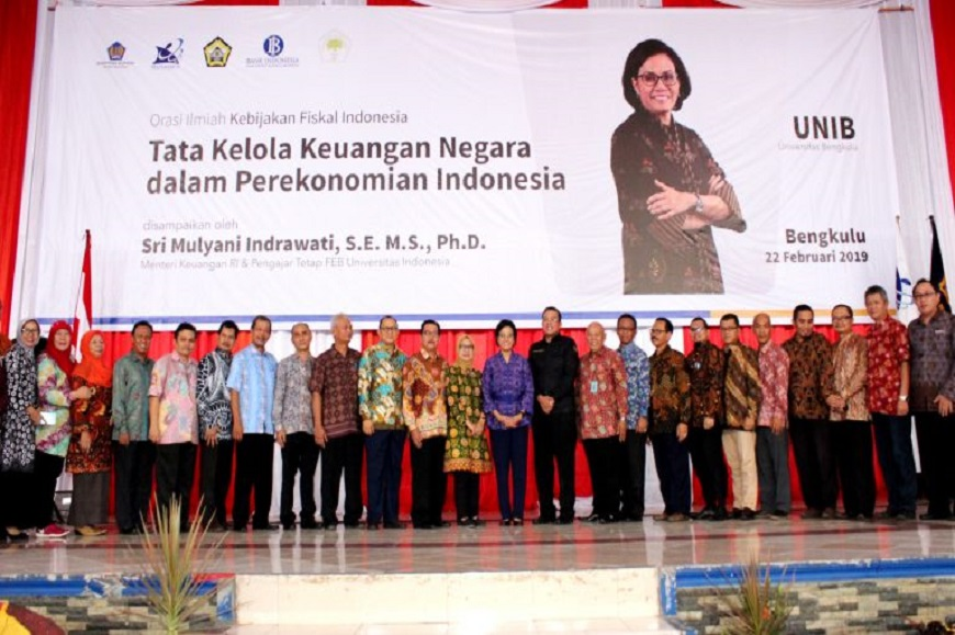 Orasi Ilmiah di UNIB, Menteri Keuangan Paparkan Kebijakan Fiskal Indonesia