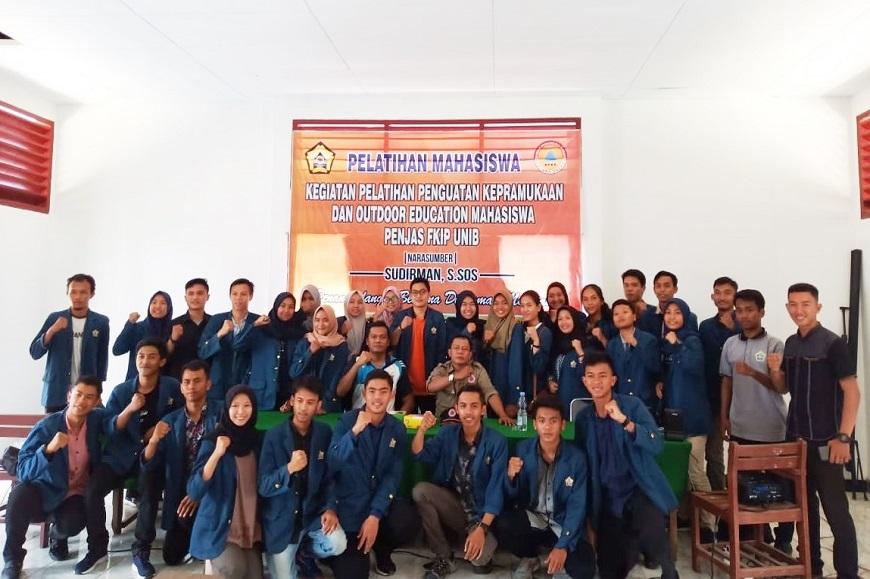 Penjas FKIP Unib Gelar Pelatihan Penanggulangan Bencana Di Zaman Milenial bersama BPBD