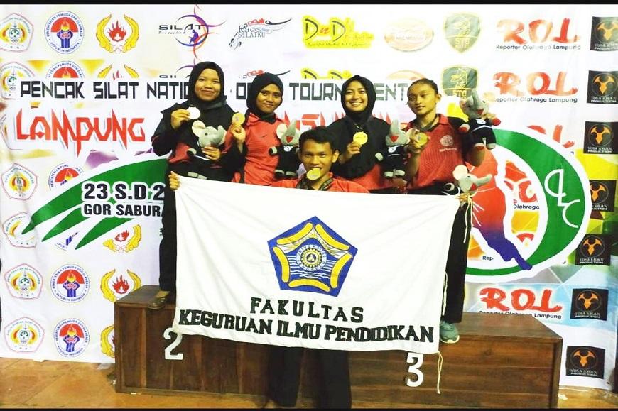 Mahasiswa Penjas FKIP Unib Raih 5 Medali Emas Pada Ajang Lampung Championship III Pencak Silat Open Turnament